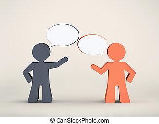 dialogue, hommes, deux, entre