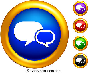 dialogue icon on buttons with golden borders
