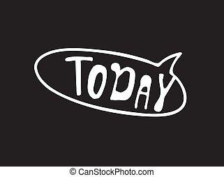 dialogue, parole, comique, texte, mot, griffonnage, arrière-plan., planche, vecteur, bulle, craie, today., dessiné, objet, élément, pop, main, noir, art, ou