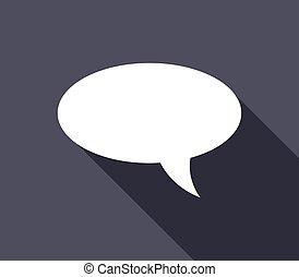 dialoog, wolk, pictogram