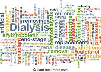 Dialysis background concept - Background concept wordcloud...
