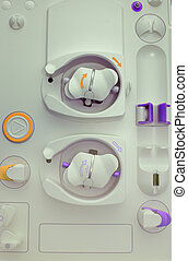 Dialysis unit body as a medical background
