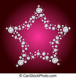 diamant, étoile