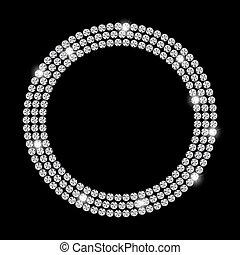 diamant, abstract, illustratie, vector, black , luxe, achtergrond