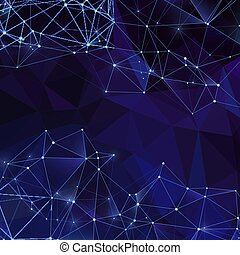 diamant, achtergrond., abstract, moderne, driehoekig, textuur, vector, achtergrond, digitale , kristallen, veelhoek