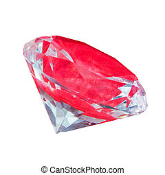diamant, angle, isolé