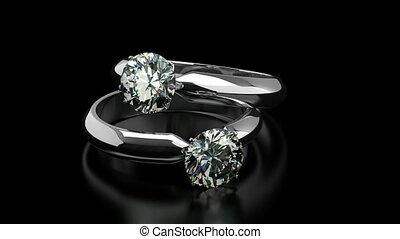 diamant, anneaux