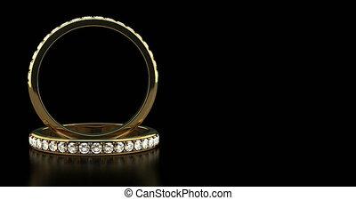diamant, anneaux, mariage