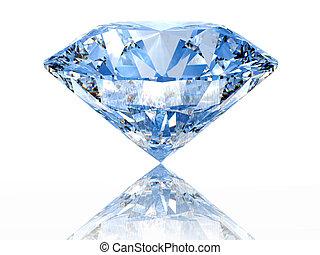 diamant, blaues