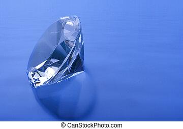 diamant, bleu