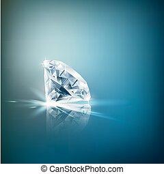 diamant, brillant, fond