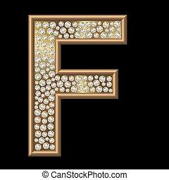 diamant, caractère, f