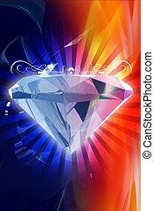 diamant, coloré