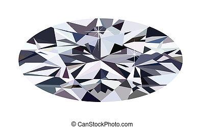 diamant, ellipse