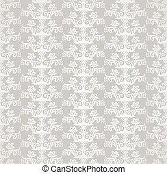 diamant, floral, behang, 353, zilver, vorm