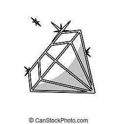 diamant, gemme, icône