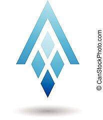 diamant, gevormd, abstract, brief, rechthoeken, symbool
