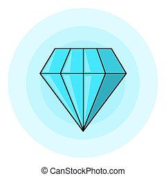 diamant, glänzend, abbildung
