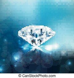 diamant, glänzend, hintergrund