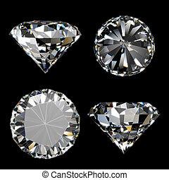 diamant, glänzend, sammlung
