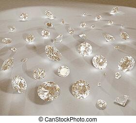 diamant, haute resolution, im, bijou, 3d