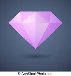 diamant, icône
