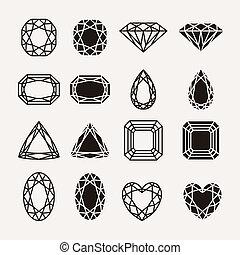 diamant, icônes