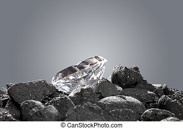 diamant, in ruw