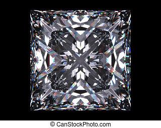 diamant, knippen, prinsesje