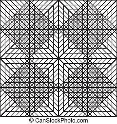 diamant, résumé, élément, construction, carrée, x4