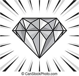 diamant, scheinen
