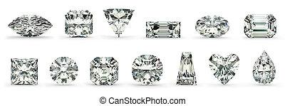 diamant, schnitte