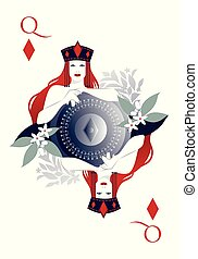 diamant, schutzschirm, umgeben, symbol, königin, krone, freigestellt, hintergrund., flowers., besitz, diamanten, weißes, zentrieren