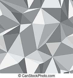 diamant, seamless, mönster, -, abstrakt, polygon, struktur