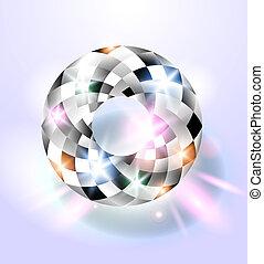 diamant, shimmering, fond