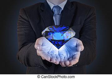 diamant, som, affär, kartlägga, begrepp