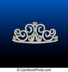 diamant, tiara, gold.