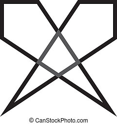 diamant, triangle, transparence, double, résumé, élément, perspective, fond
