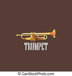 diamant, trompette, illustration, icône