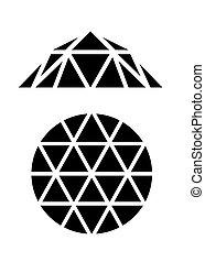 diamant, vecteur, illustration