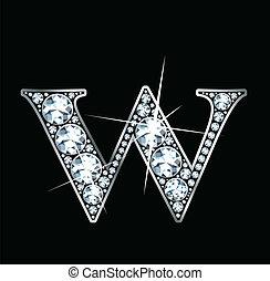 diamant, vecteur, -, w, (eps)