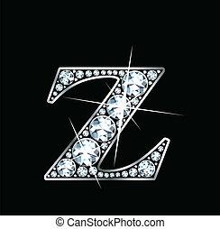 diamant, vecteur, -, z, (eps)