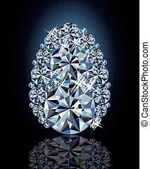 diamant, vector, paasei