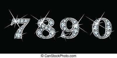 diamante, 7, 8, 9, 0
