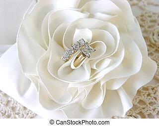 diamante, anéis, casório
