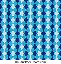 diamante azul, arlequim, padrão, seamless, fundo