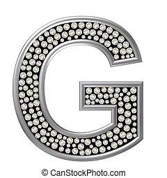 diamante, carácter, g