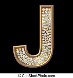 diamante, carattere, j