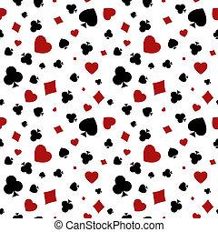 diamante, club, bac, cuore, vanga