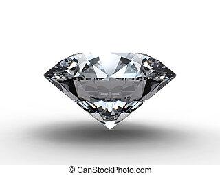 diamante, con, reflexión